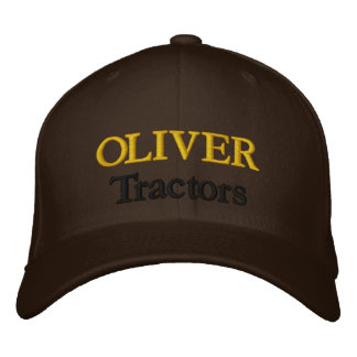 Oliver-Traktor-Rasenmäher-Mäher-antiker Bauernhof Bestickte Baseballkappe