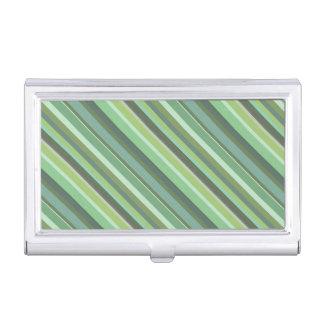 Olivgründiagonalstreifen Visitenkarten-Behälter