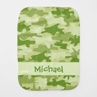 Olivgrünes Grün-Camouflage-Tarnungs-Name Baby Spuchtücher