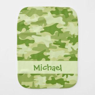 Olivgrünes Grün-Camouflage-Tarnungs-Name Baby Spucktuch