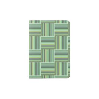 Olivgrünstreifen-Webartmuster Passhülle