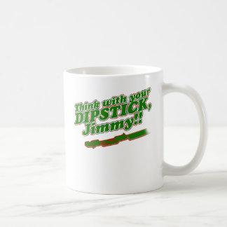 Ölmessstab Kaffeetasse