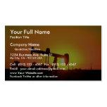 Ölquellepumpe am Sonnenuntergang, Illinois, USA Visitenkartenvorlagen