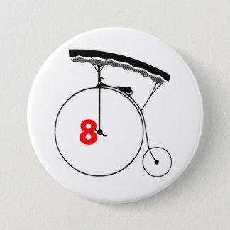 Olympischer Schwimmer 8 Runder Button 7,6 Cm