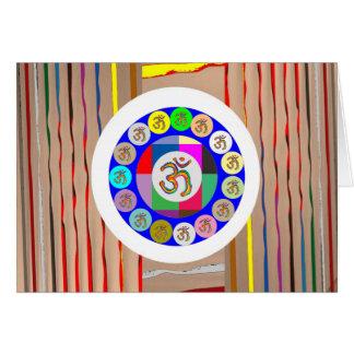 OM-BESCHWÖRUNGSFORMEL Gold: Gesang-Yoga-Meditation Grußkarte