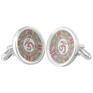 OM-Beschwörungsformel-Juwel-Sammlung Manschettenknöpfe