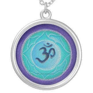 Om Mandala Versilberte Kette