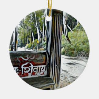 OM Namah Shivay Keramik Ornament