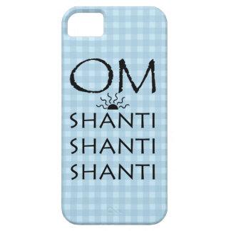 OM-Shanti/Yoga-Lebensstil/blaue Karos Schutzhülle Fürs iPhone 5