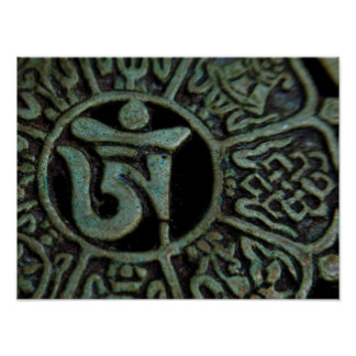 OM-Symbol in buddhistischem Tibet Poster