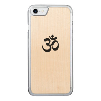 OM-Symbol iPhone 7 Holz-Telefon-Kasten Carved iPhone 7 Hülle