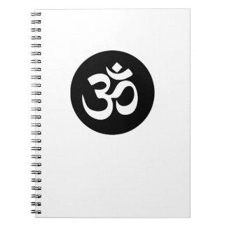 OM-Symbol-Kreis-gewundenes Notizbuch Spiral Notizblock