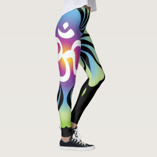 OM-Yoga-Gamaschenlotos Leggings