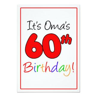 Omas 60. Meilenstein-Geburtstags-Party-Feier Karte