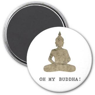 OMB oh meine lustige Silhouette Buddhas Runder Magnet 7,6 Cm