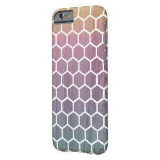 Ombré Bienenwabe hölzerner iPhone Fall Barely There iPhone 6 Hülle