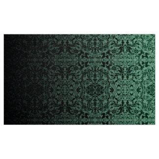 Ombre Damast grünes/schwarzes LOPc Stoff