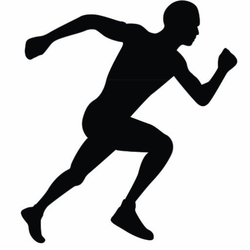 Ombre noire de silhouette de coureur photo sculpture zazzle - Coureur dessin ...