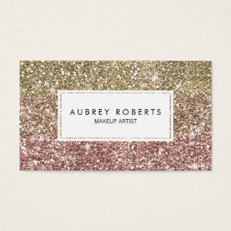 Ombre Rosen-Rosa-GoldGlitter-Girly Visitenkarten
