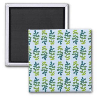 Ombre tropisches Blätter Quadratischer Magnet