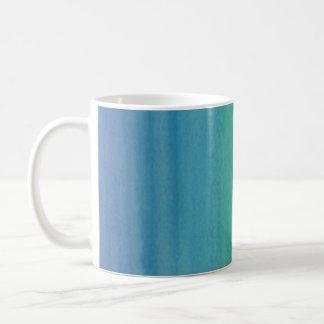 Ombre Watercolor-Druck-Tassen-Meerjungfrau-Farben Kaffeetasse