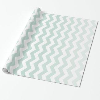 Ombre Zickzack Pool-blaues Verpackungs-Papier Geschenkpapier