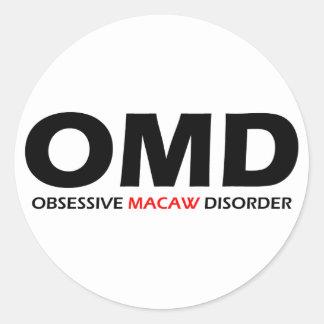 OMD - Besessene Macaw-Störung Runder Aufkleber