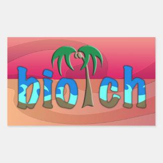 OMG ! biotch Sticker En Rectangle