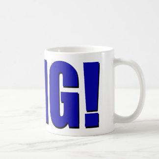 OMG! blau Tasse