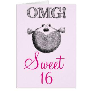 OMG lustiger Geburtstag Bonbons 16 Grußkarte
