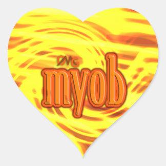 OMG ! myob Autocollants En Cœur