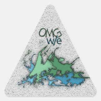OMG ! w/e Autocollant En Triangle