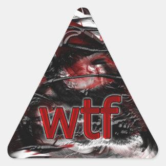 OMG ! wtf Autocollants En Triangle