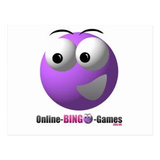 On-line-Bingo-Waren-Logo und Maskottchen Postkarte