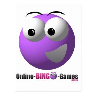 On-line-Bingo-Waren-Logo und Maskottchen Postkarten