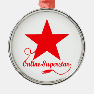 On-line-Superstar Silbernes Ornament