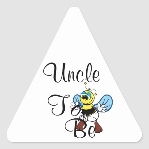 Oncle espiègle To Be Autocollants En Triangle