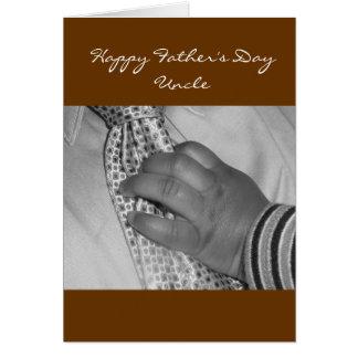 Oncle heureux de fête des pères cartes de vœux