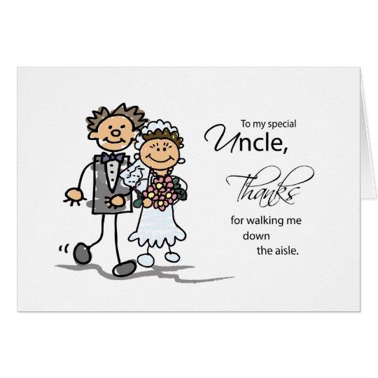 Onkel, Dank für gehen ich hinunter den Gang-Mann Grußkarte