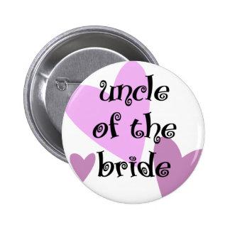 Onkel der Braut Runder Button 5,7 Cm