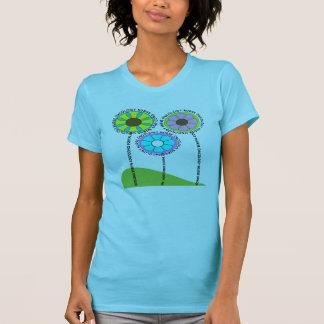 Onkologie-Krankenschwester-künstlerische Blumen-T T-Shirt