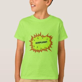 Onomatopoeiawort kerplunk, das laute Geräusche T-Shirt