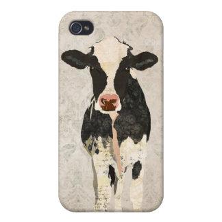 Onyx-u. Perlen-Kuh-Damast I iPhone 4 Hüllen