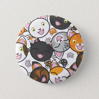 Oodles der Miezekatze! Runder Button 5,1 Cm