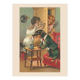 """""""Oops Nr. 2"""" Vintage Hundepostkarte Postkarte"""