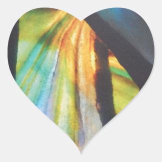 Opalisierender Buntglas-Entwurf Herz-Aufkleber