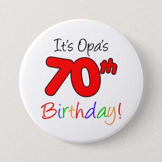 Opas 70. Geburtstags-Party-deutscher Runder Button 7,6 Cm
