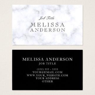 Openface Schriftart-beruflicher weißer Marmor Visitenkarte