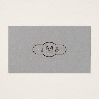 Openface Schriftart mit Monogramm elegantes Retro Visitenkarte
