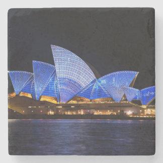 Opernhaus Australiens Sydney nachts Steinuntersetzer